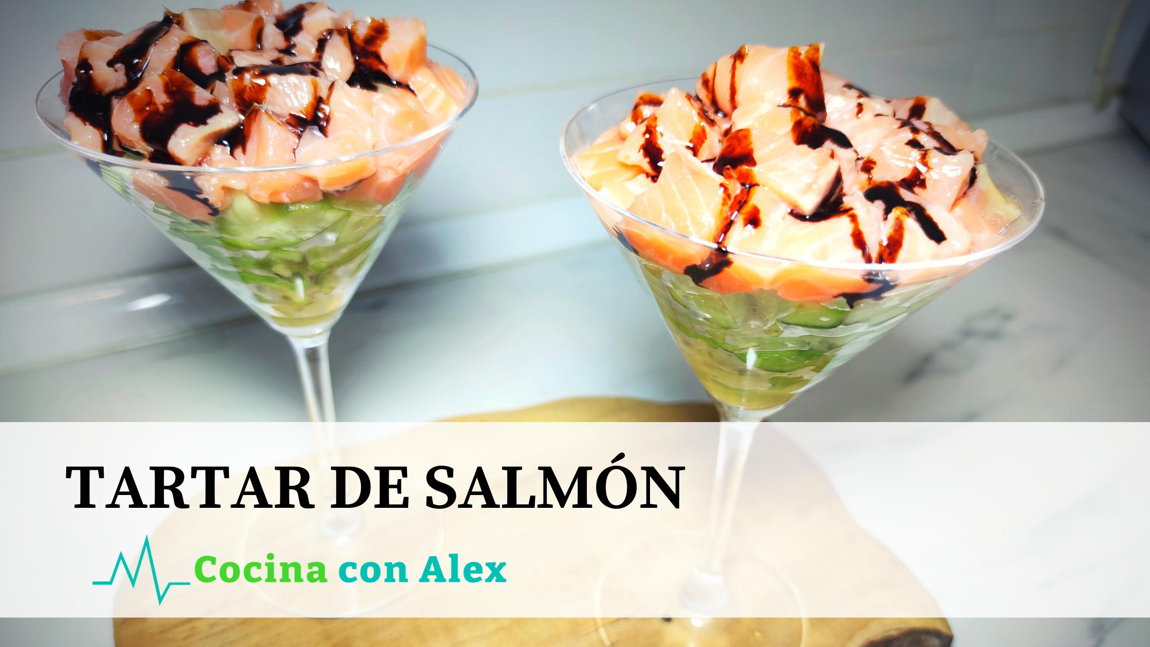 Tartar de salmón alex arroyo fit 1. Receta saludable con salmón. Perfecta para cuidar de la dieta y perder peso.