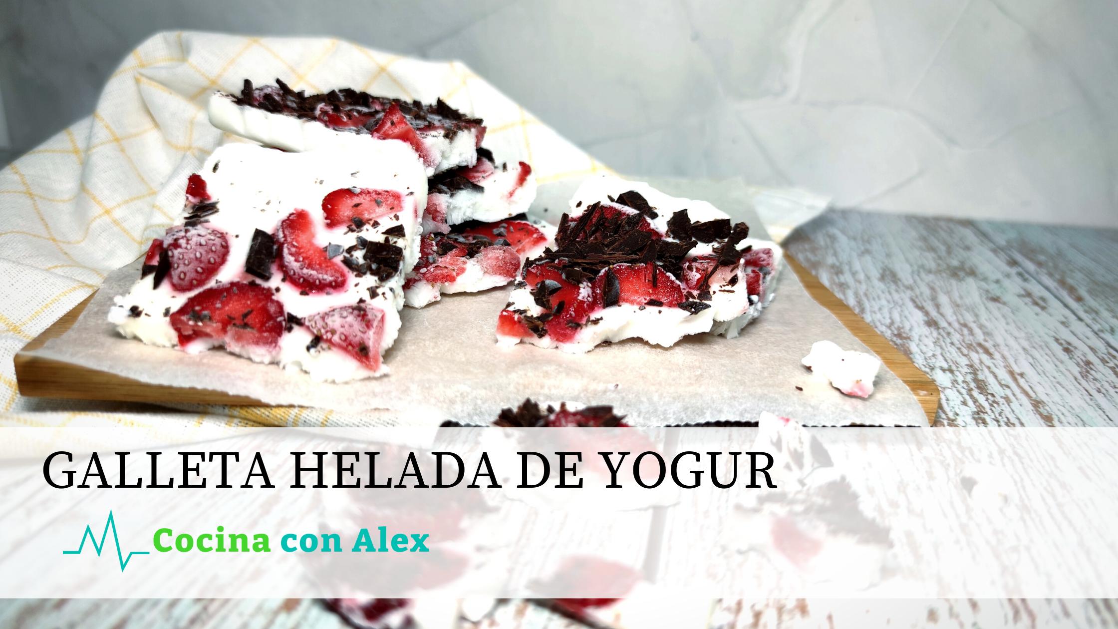 Galleta helada de yogur Alexarroyofit. Receta riquísima y saludable perfecta para no preocuparse por eso kilos de más en verano.