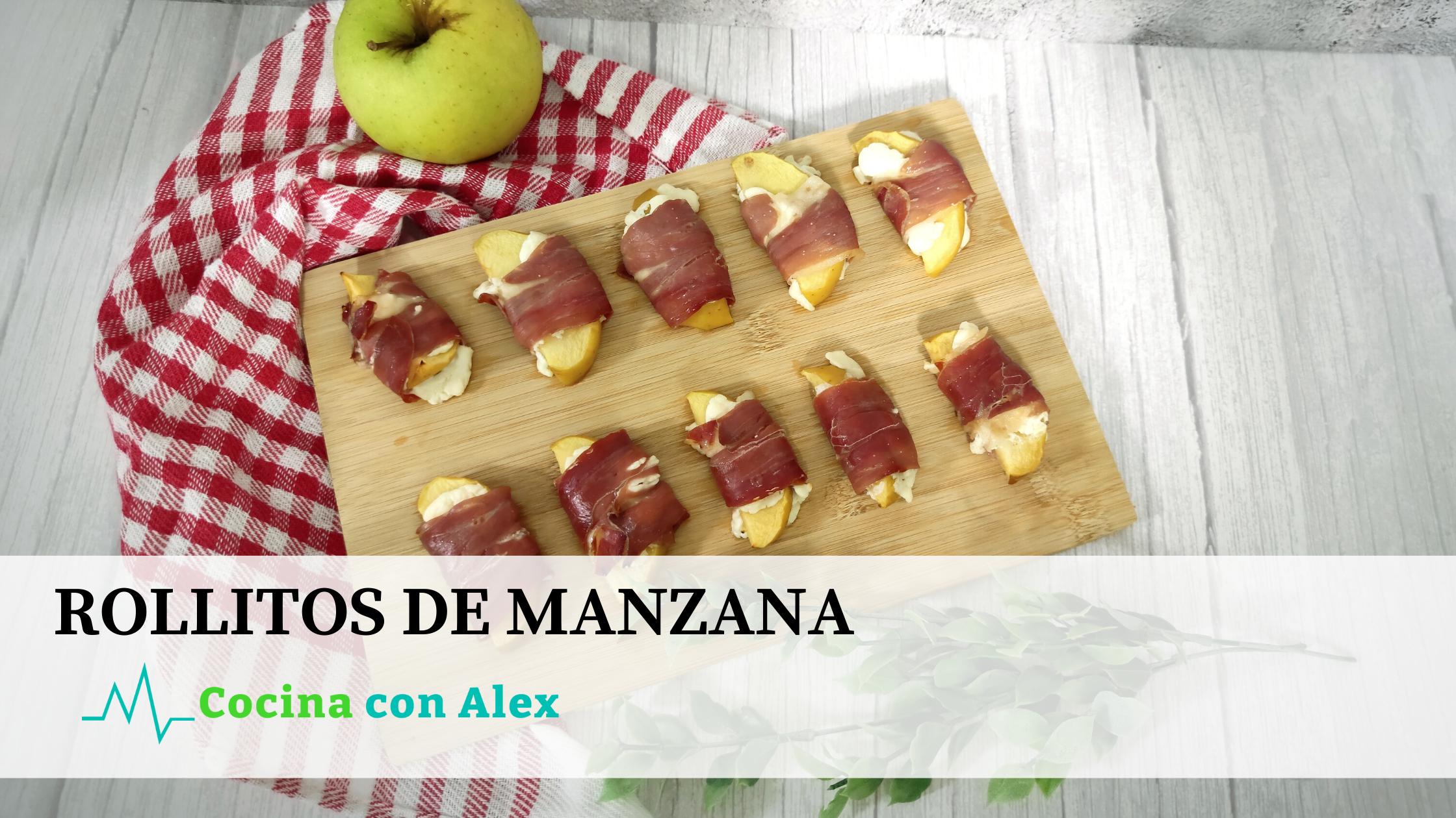 Rollitos de manzana alex arroyo fit. Receta perfecta para cuidar de tus invitados de forma saludable y baja en calorías.